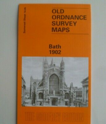 Old Ordnance Survey Detailed Maps Bath Somerset 1902  Godfrey Edition New