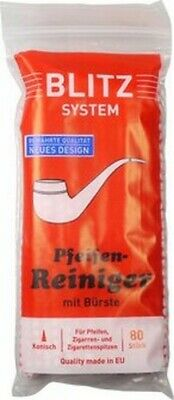 """80PCS BLITZ SYSTEM SWISS MADE CONICAL PIPE CLEANERS w. BRUSH * NEW * 6.30"""" LONG"""
