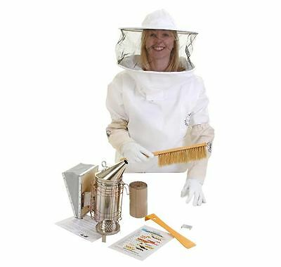 Beekeepers Bee Tunic, Gloves, Smoker and Tools: All Sizes