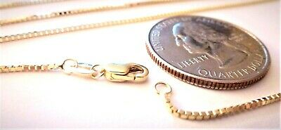 14kt Pure Solid Gold 30 inch 1MM BOX CHAIN - Lobster Lock.....100% Guaranteed!