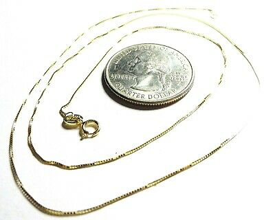 10Kt Pure Solid Gold 20 inch .45MM Thin BOX Chain ........... 100% Guaranteed!