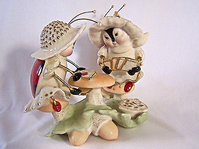 Lenox Lucky Ladybugs Figurine Fine China Hand-Painted Mint Condition