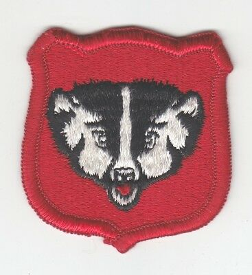 Army Patch:  Wisconsin National Guard Headquarters - merrowed edge
