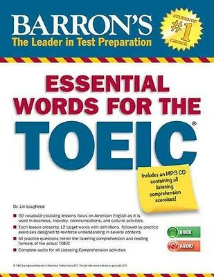 Essential Words for the Toeic with MP3 CD 9781438074450 by Lin Lougheed, NEW