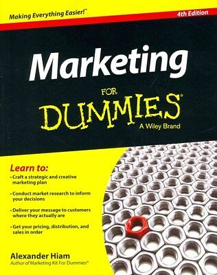 Marketing For Dummies 9781118880807 by Alexander Hiam, Paperback, BRAND NEW