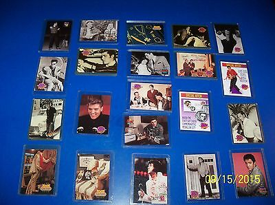 21 ELVIS PRESLEY 1992 River Group TRADING CARDS w/sleeves EXC/EXC+