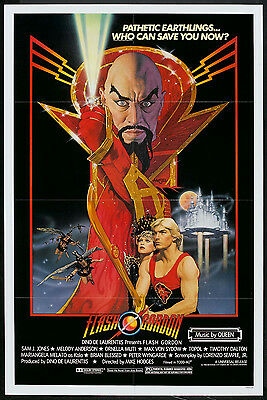 FLASH GORDON original 1980 movie poster QUEEN/SAM J. JONES/ORNELLA MUTI onesheet