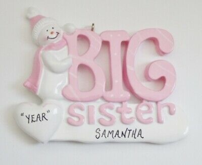 Personalized Snowman Little Sister Christmas Ornament  899