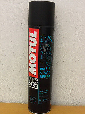 24,50€/l Motul E9 Wash & Wax 3 x 400 ml Trockenreiniger Spray
