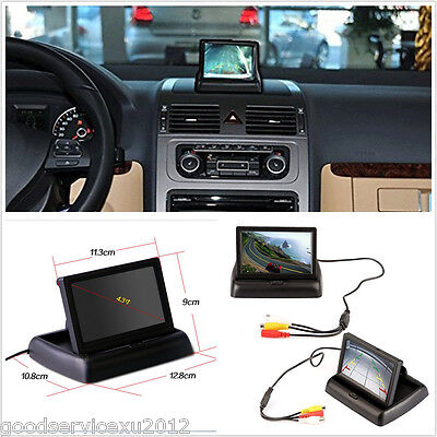 """DC12V 4.3"""" LCD Colourful Automobile Reverse Rearview Monitor For Vehicle Camera"""