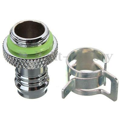 Green Useful Barb Fitting Water Cooling Radiator For 3/8'' ID G1/4 Chromed Hot