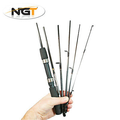 NGT Travelmaster 6ft 6 Piece Travel Fishing Rod Coarse General Spinning Tackle