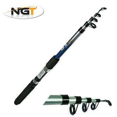 NGT Trekker Telescopic Travel Fishing Rod Coarse Sea 6, 8, 10, 12ft