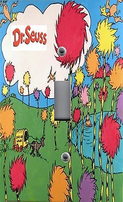 Light Switch Plate Outlet Covers ~ DR. SEUSS LORAX ONCE LER WAGON