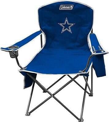 Dallas Cowboys  Cooler Quad Chair - Coleman Folding Tailgate