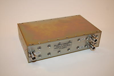Microwave Solutions 413-450 MHz Bandpass Duplexer CD418 Tuned to 41.0/423.0 MHz