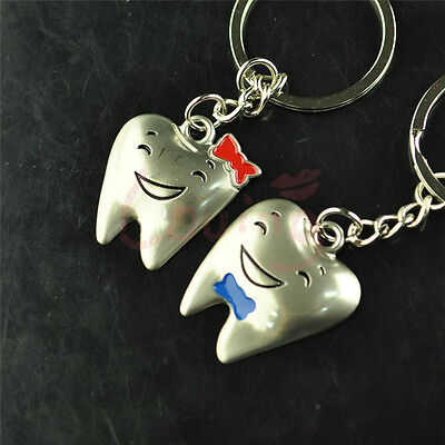 New Happiness Teeth Tooth Couples Key Chain Key Ring Dentist Business Gifts