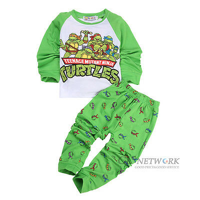 New Teenage Mutant Ninja Turtles Kid Baby Boys Nightwear Pajamas Sleepwear 1-7Y