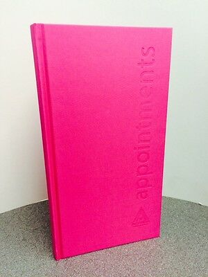 Agenda 3 Column Appointment Book - Hot Pink - Nail Technician, Beautician, Salon