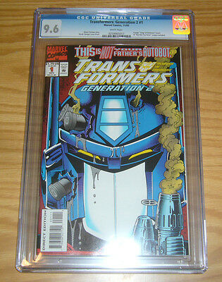 Transformers: Generation 2 #1 CGC 9.6 simon furman - marvel comics 1993