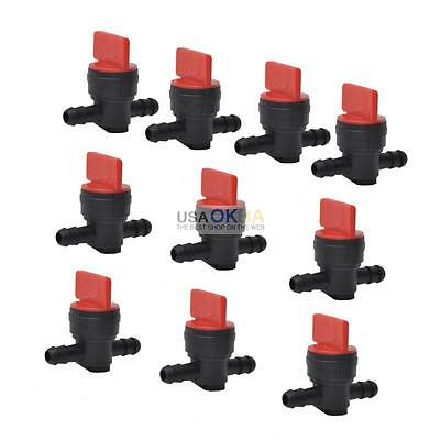 "10pcs 1/4"" InLine Straight Fuel Gas Cut-Off/Shut-Off Outdoor Small Engine Valve"