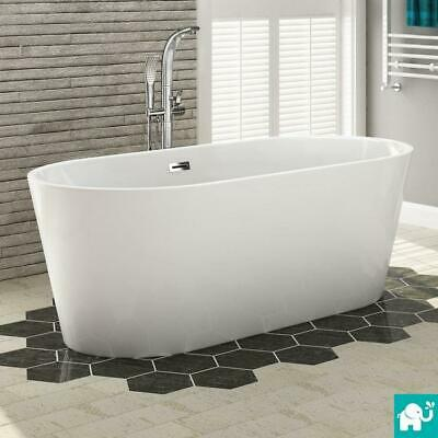 Large Designer Freestanding Bath Modern Bathroom Gloss White Bathtub 1700x800mm