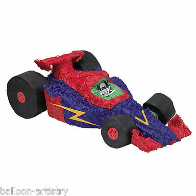 Red & Blue RACING CAR BASH Pinata Children's Party Game Decoration