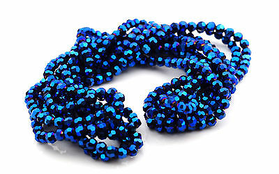 AB Treated Glass Blue Faceted Beads DIY Necklace/ Bracelet making 500 Beads