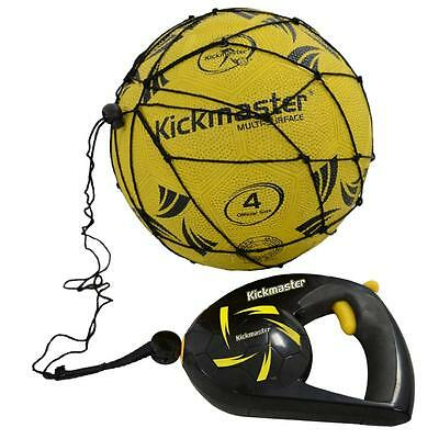 Kickmaster Close Ball Control Football Soccer Trainer Black Re-Coil Mechanism