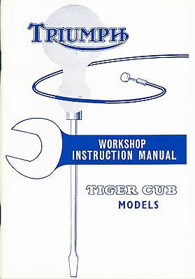 Triumph Tiger and Terrier Cub workshop Instruction Manual 1954-1963
