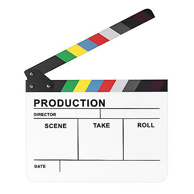 "Neewer 10""x12"" Colorful Director's Movie Film TV Cut Action Clapperboard"