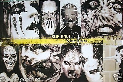 "SLIPKNOT ""9 LIVES"" POSTER FROM ASIA - Tight Head Shots Of The Band, Metal Music"