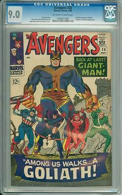Avengers # 28  First appearance of the Collector !  CGC 9.0 scarce book !