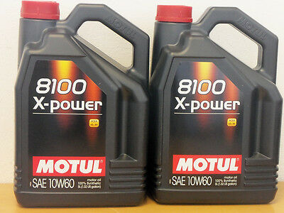 8,98€/l Motul 8100 X-Power 10W-60 2 x 5 Ltr für Motorsport BMW M etc.