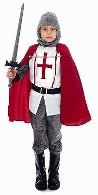 Child RED Knight Fancy Dress Costume age 4-6