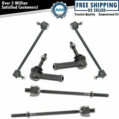 Inner & Outer Tie Rod Sway Bar Link Set Steering Suspension Kit for Ford Mercury