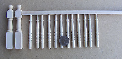 1:12 Scale DIY Banister Set Spindles Newel Post & Handrail Dolls House Accessory