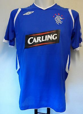 Glasgow Rangers 2008/09 S/s Home Shirt By Umbro Adults Size Large Brand New