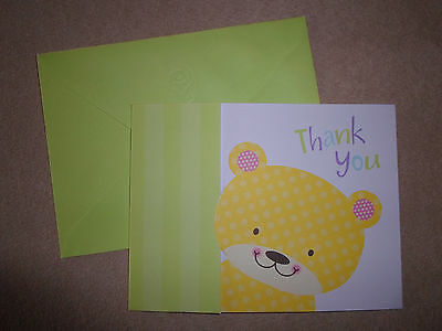 Boomerang bear thank you notecard envelope by american greetings yellow bear thank you card with lime green envelope by carlton cards brand new m4hsunfo