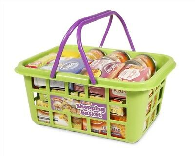 Casdon Kids Shopping Basket with Supermarket Pretend Play Food Childrens Toy