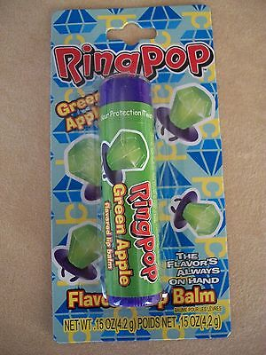 Lotta Luv .15 Oz. Ring Pop Green Apple Flavored Lip Balm In Tube, NEW IN PACKAGE