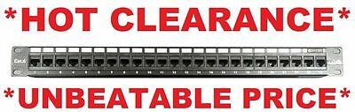 "Universal 19"" 24 Ports Network Data Rack Patch Panel Rack Cat6/Cat5e 1RU RJ45"