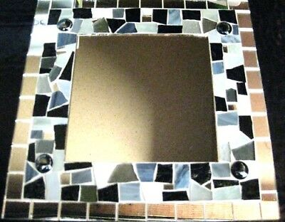Black White Grey Ivory Mosaic Mirror Kit All U Need to make this yourself