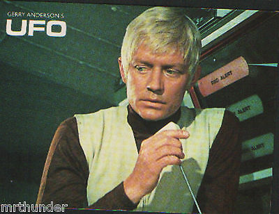 Gerry Anderson's UFO Postcard Engale Marketing 1987 Commander Straker Ed Bishop
