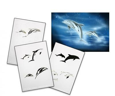 Step by Step Stencil AS-038 dolphin ~ UMR Airbrush Schablone