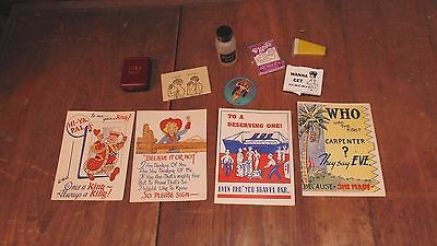 Lot of Vintage Adult Novelty Items Risque Adult Humor