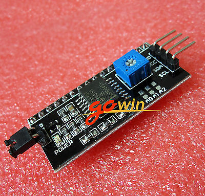 2PCS IIC/I2C/TWI/SP​​I Serial Interface Board Module Port 1602 LCD Display