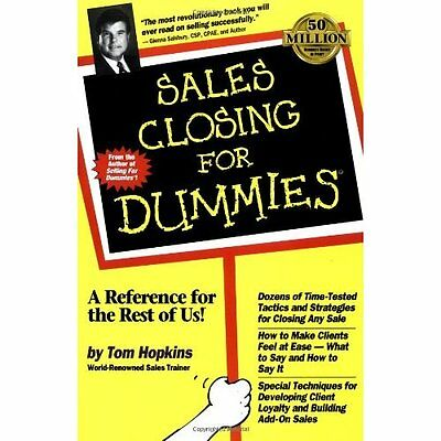 Sales Closing For Dummies - Hopkins, Tom NEW Paperback 7 April 1998