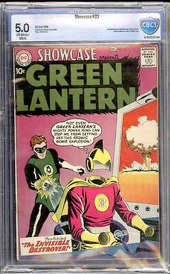 Showcase # 23  Second appearance SA Green Lantern !  CBCS 5.0  scarce book!