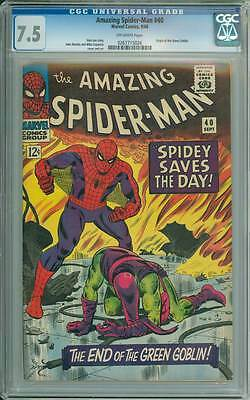 Amazing Spider-Man # 40  The End of the Goblin !  CGC 7.5  scarce book!